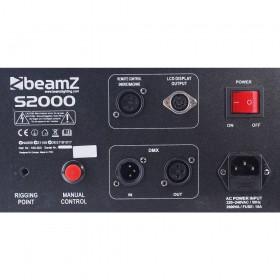 aansluit paneel - BeamZ S2000 - Co2 effect Rookmachine DMX 24x 3W LED