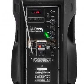 Party licht en sound PARTY-15RGB Draagbare luidspreker 15''/38cm met USB, BT en microfoon / Achterkant