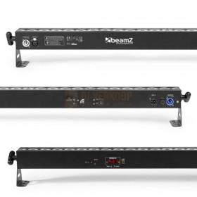zoom Aansluitingen - BeamZ BBB243 - Battery Powered LED BAR 24x 3W RGB