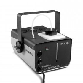 Schuine achterkant van de Cameo - Phantom F3 Rookmachine 950 W verwarmingsvermogen en intern verlichte vloeistoftank
