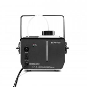 Achterkant van de Cameo - Phantom F3 Rookmachine 950 W verwarmingsvermogen en intern verlichte vloeistoftank