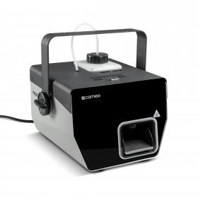 Schuinvoor aanzicht van de Cameo - Phantom H2 DMX Rookmachine 600 W verwarmingsvermogen en intern verlichte vloeistoftank