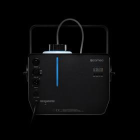 Achterkant blauw van de Cameo - Phantom H2 DMX Rookmachine 600 W verwarmingsvermogen en intern verlichte vloeistoftank