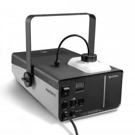 Schuin achterkant aanzicht van de Cameo - PHANTOM F51500 W DMX rookmachine met hoog vermogen en tweekleurige tankverlichting