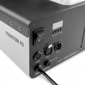 Aansluitingen van de Cameo - PHANTOM F51500 W DMX rookmachine met hoog vermogen en tweekleurige tankverlichting