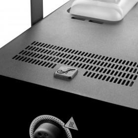 Hitte uitgang van de Cameo - PHANTOM F51500 W DMX rookmachine met hoog vermogen en tweekleurige tankverlichting