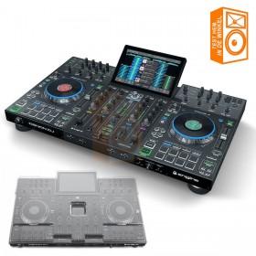 Denon DJ Prime 4 + Decksaver - Pro 4 deck USB standalone DJ systeem