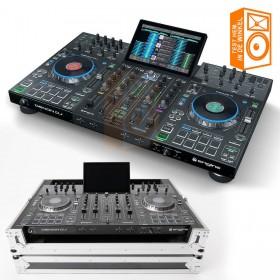 Denon DJ Prime 4 + MAGMA DJ-controller case - Pro 4 deck USB standalone DJ systeem