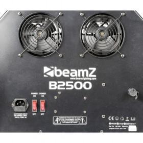 BeamZ B2500 - Dubbele Bellenblaasmachine Groot achterkant en aansluiting