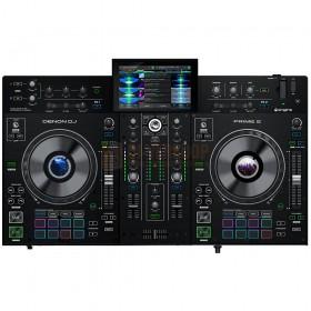 bovenkant Denon DJ Prime 2 - Tweedeks Smart DJ-console met 7-inch touchscreen