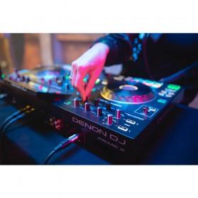 live achterkant Denon DJ Prime 2 - Tweedeks Smart DJ-console met 7-inch touchscreen