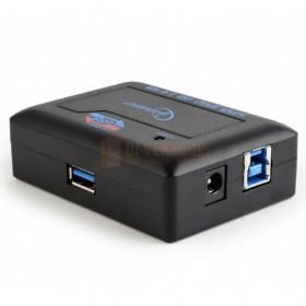 zijkant Gembird UHB-C344 - 4 poorts USB 3.0 hub