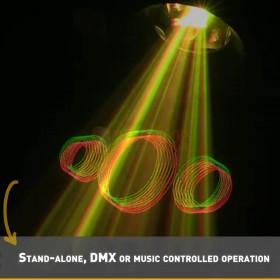 B-stock - BeamZ Cronus - Animatie Laser R/G/Y DMX SD - Animatie