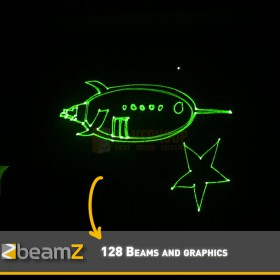 B-stock - BeamZ Cronus - Animatie Laser R/G/Y DMX SD - Animatie 2