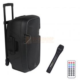 "Ibiza Sound HYBRID8VHF-BT - Mobiel PA Systeem 8"" met Accu, USB/SD/Bluetooth en VHF Microfoon"