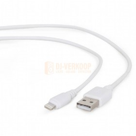 Close-up Cablepert CC-USB2-AMLM-W-10 USB oplaadkabel wit 3 meter