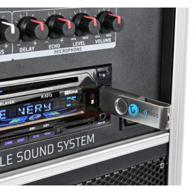 "VONYX ST110 Mobiele Geluidset 8"" CD/SD/USB/MP3 - Detail usb speler"