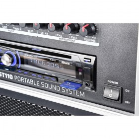 "VONYX ST110 Mobiele Geluidset 8"" CD/SD/USB/MP3 - Detail cd speler"