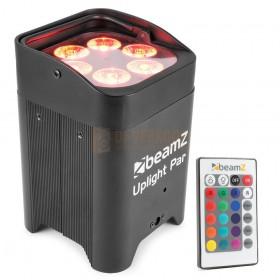 Beams - BBP96 Battery Uplight Par 6x 12W met afstandsbediening