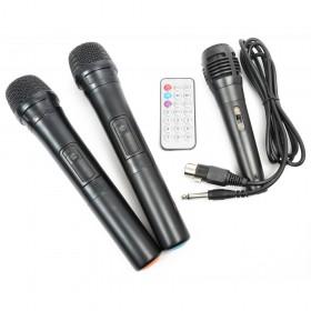 "microfoons en afstandsbediening Vonyx ST100 MK2 Mobiele geluidsinstallatie 8"" BT/CD/MP3/UHF + Record functie"