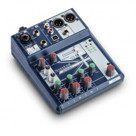 schuin Soundcraft Notepad 5 - compacte mixer met PC USB