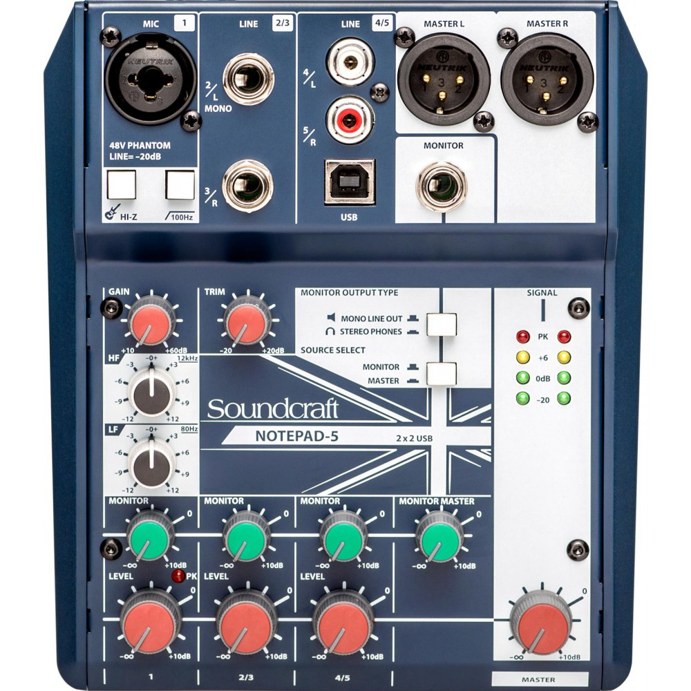 Soundcraft Notepad 5 - compacte mixer met PC USB