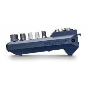 Zijkant Soundcraft Notepad 5 - compacte mixer met PC USB