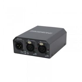 Transcension CS 2 - DMX Distributie Splitter met IEC stroom in en uit