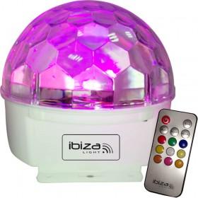 Ibiza Light ASTRO-9C-RC - 9-Kleurige Astro (RGBWAGPOP) LED Licht Effect met Afstandsbediening