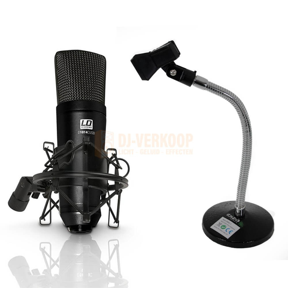 LD Systems D1014C USB Tafel Set - USB condensator microfoon incl. tafelstandaard