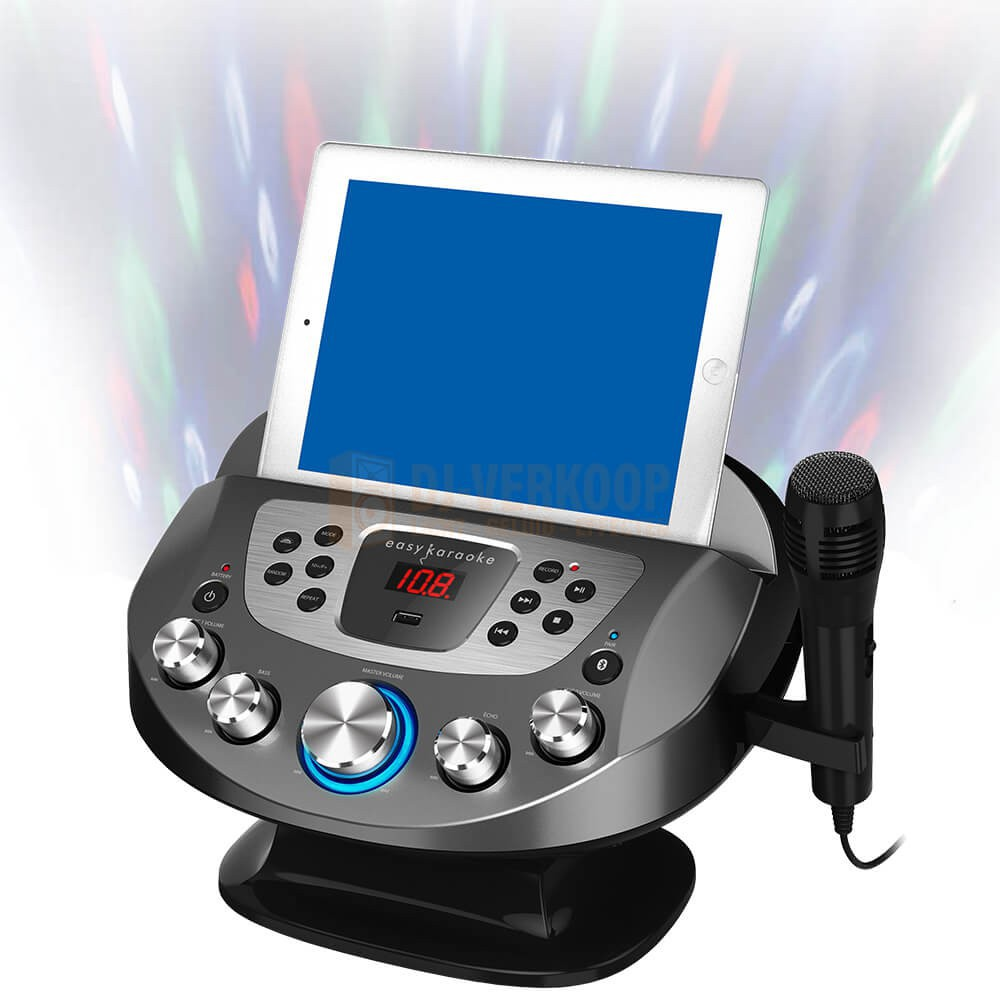 N-Gear NS282BT - Karaoke systeem met Bluetooth speaker, disco licht en microfoon met optionele tablet