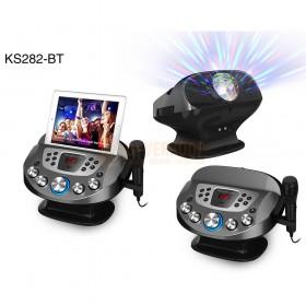 N-Gear NS282BT - Karaoke systeem met Bluetooth speaker, disco licht en microfoon voor en achter