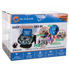 Doos voorbeeld N-Gear NS282BT - Karaoke systeem met Bluetooth speaker, disco licht en microfoon