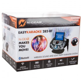 Doos voorbeeld 2 N-Gear NS282BT - Karaoke systeem met Bluetooth speaker, disco licht en microfoon