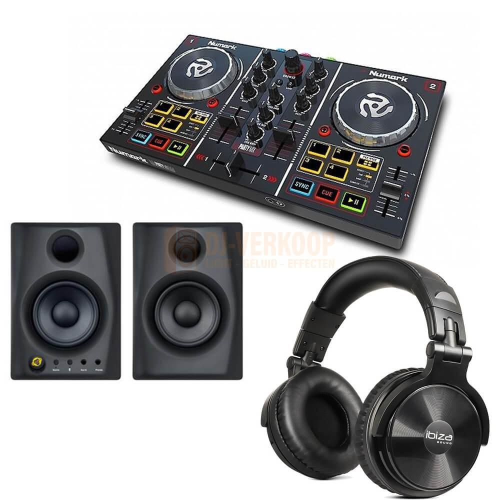 Numark Party Mix Set 4 - DJ Controller met speakers en koptelefoon