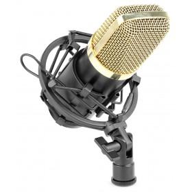 Vonyx CM400B - Studio Condensator Microfoon Zwart/Goud