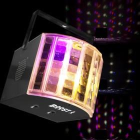 Ibiza Light boost-lightpack10 - led lichteffect set Derby in actie
