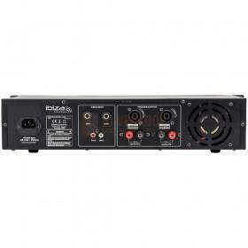 Aansluitingen Ibiza Sound AMP1000-MKII - Disco versterker 2 X 800W achterkant