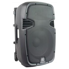 """Skytec SPJ-PA915 - Mobiele Geluidsset ABS 15"""" USB/SD Speler en 2x VHF mic. (170.080)"""
