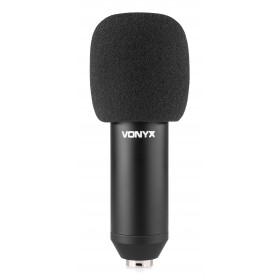 Vonyx CMS400 - Studio Set - condensatormicrofoon met wind kap