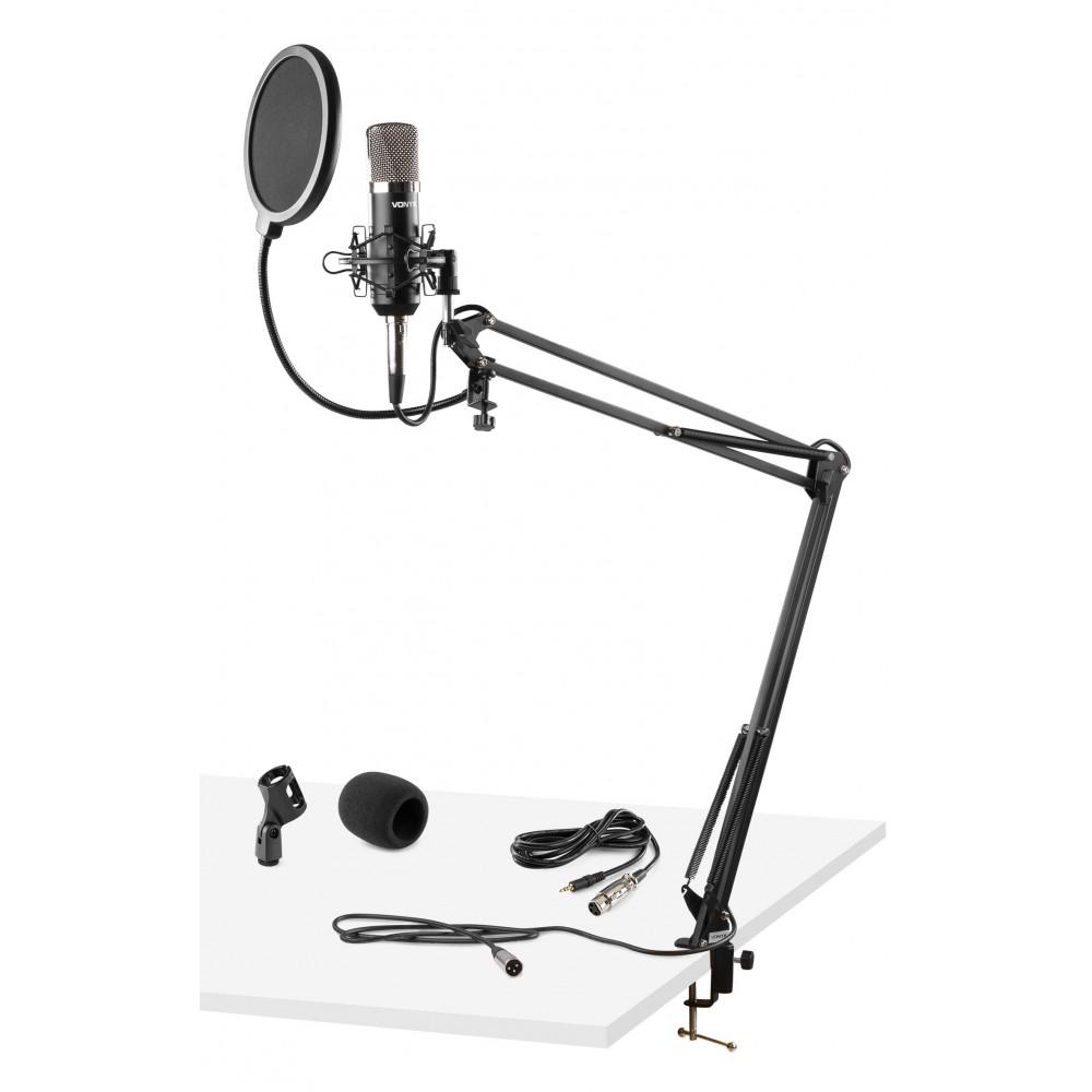 Vonyx CMS400 - Studio Set / Condensator microfoon met verstelbare tafel arm en popfilter