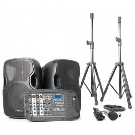 "VONYX PSS302 Mobiele Geluidset 10"" SD/USB/MP3/BT met Standaards - Overzicht"
