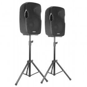 """VONYX PSS302 Mobiele Geluidset 10"""" SD/USB/MP3/BT met Standaards - speakers en standaards"""
