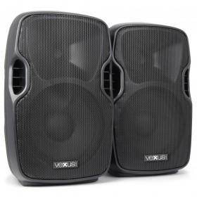"""VONYX PSS302 Mobiele Geluidset 10"""" SD/USB/MP3/BT met Standaards - voorkant speakers"""