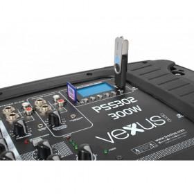 "VONYX PSS302 Mobiele Geluidset 10"" SD/USB/MP3/BT met Standaards - detail mixer"