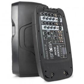 """VONYX PSS302 Mobiele Geluidset 10"""" SD/USB/MP3/BT met Standaards - afneembare mixer"""