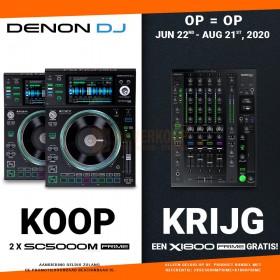 Mega Actie Op is OP - Denon DJ 2xSC5000M + Gratis X1800 Prime