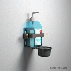 Gravity MS 23 DIS 01 B Close up van desinfectie middel aan de muur bevestigd