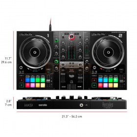 Hercules DJControl Inpulse 500 DJ Contoller afmetingen