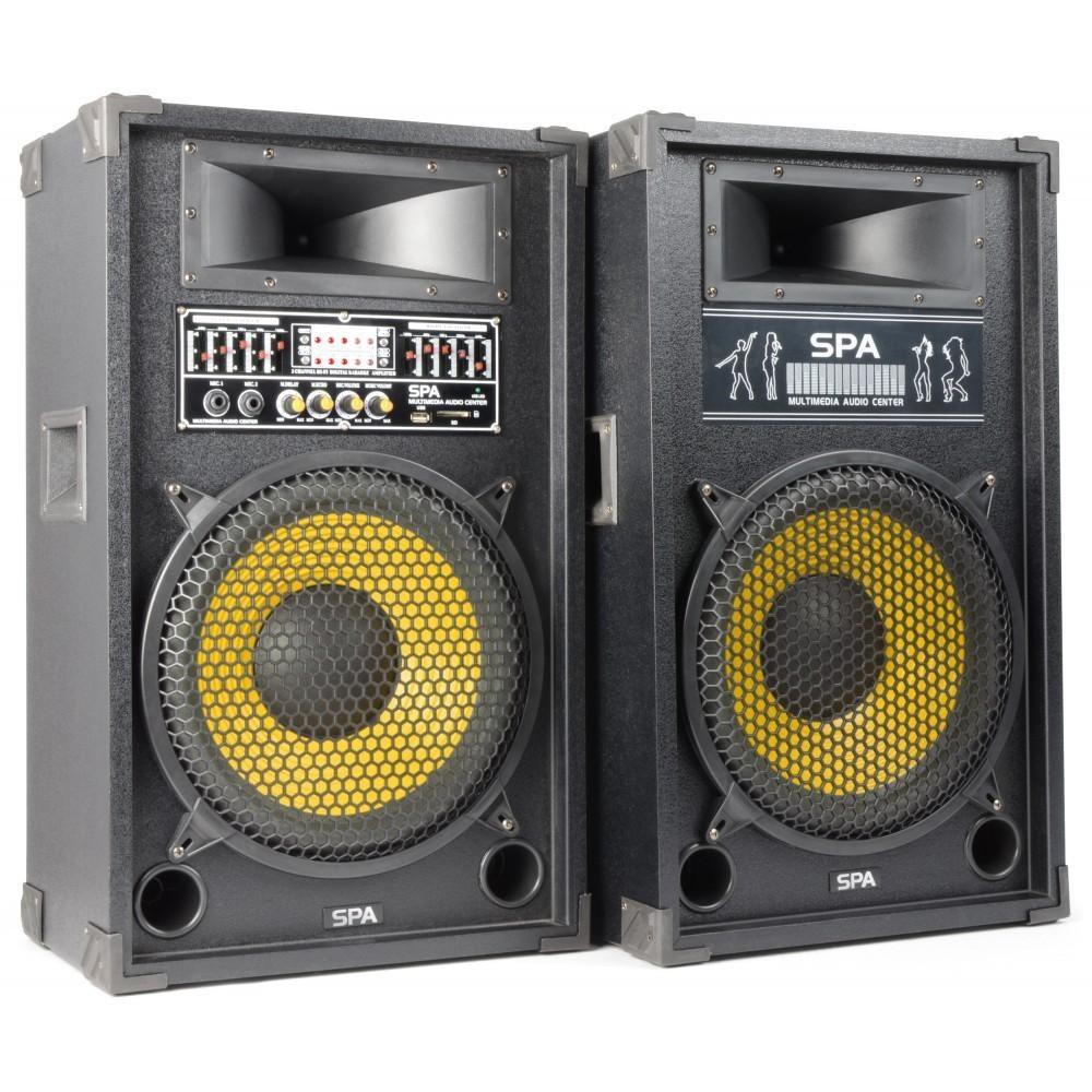 "SkyTec SPA1200Y - PA Actieve speakerset 12"" USB SD"